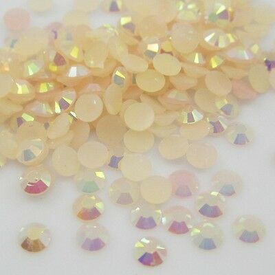 NEW 400pcs 4mm Beige Jelly drill beads flat back Scrapbooking for crafts art 12