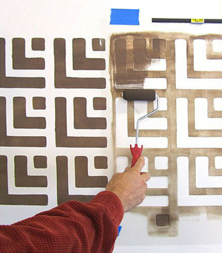 Maze Runner Allover Stencil Sturdy and Reusable Wall Stencil for DIY LARGE