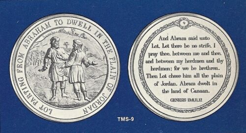 LOT PARTING FROM ABRAHAM Thomason Medallic Bible 9 Franklin Mint Bronze Medal