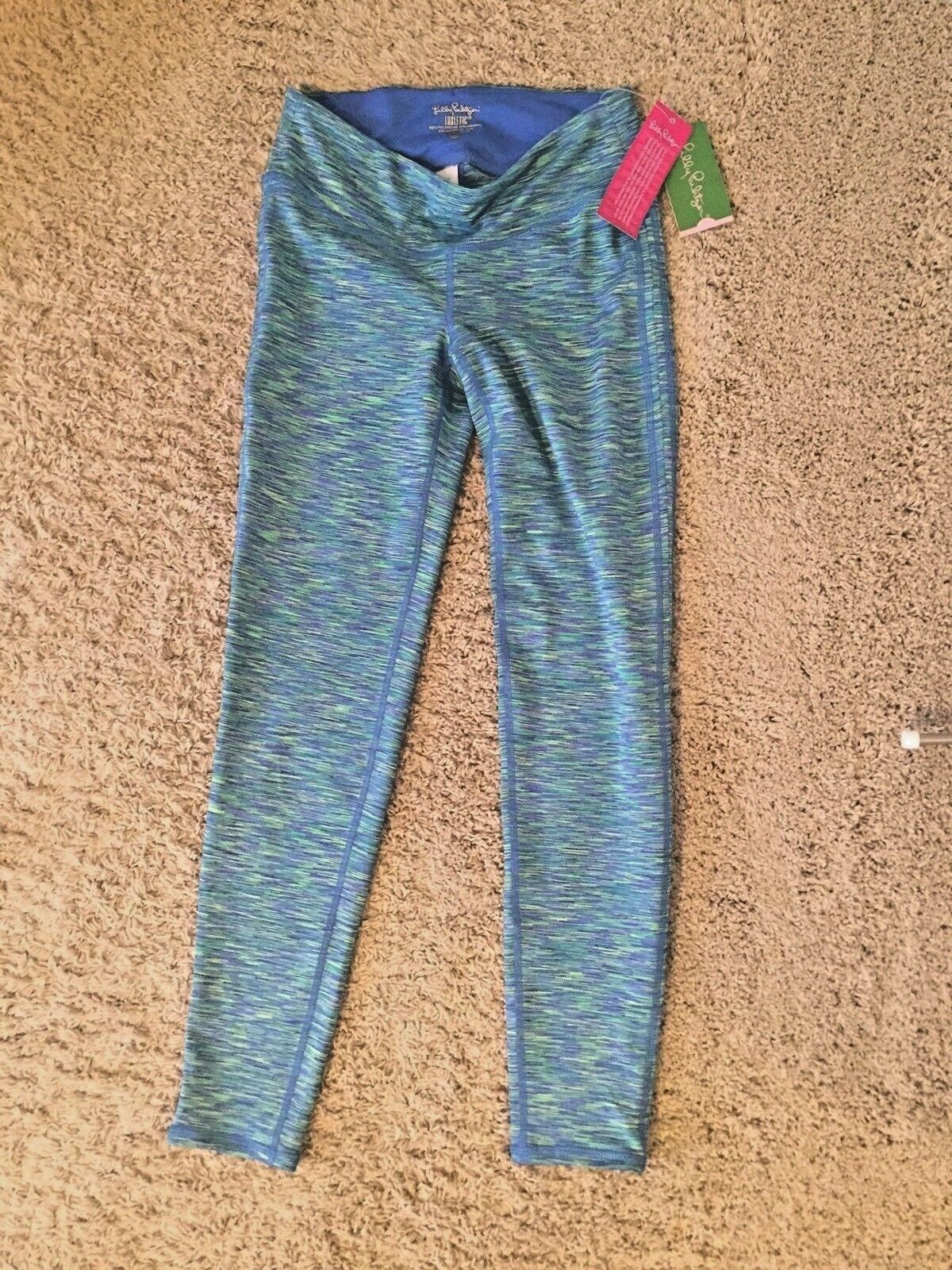 NWT Lilly Pulitzer Weekender Leggings Space Dye bluee Small S
