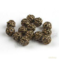 100pcs Lot Antique Bronze Zinc Alloy Spacer Charms Bead Fit Jewelry Making 6mm J