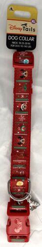 Disney Tails Mickey Minnie Mouse Christmas Holiday Dog Collar XL 90-140 Lbs