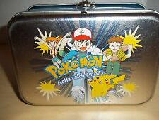 1996 Nintendo Pokemon Trading Card Tin Box With 20 Cards