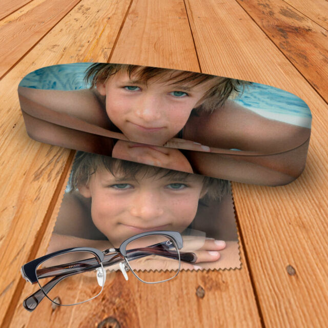 Personalised Hard Photo Glasses Case Including Photo Cloth Made With Your Photo