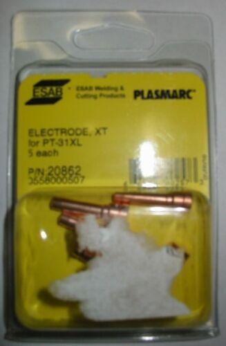 QTY 5 ESAB 20862 ELECTRODE 40A for PT-31XL PLASMA