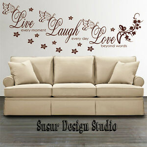 Wall-Stickers-Quotes-Live-Laugh-Love-Room-Decal-Wall-Art-Mural-Transfer-SVIL10