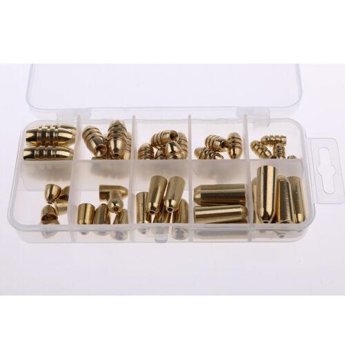 50 Stü Bullet Form Messing Angelgerät Box Set Angelköder Kit