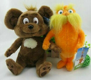 Hot!set of 2pcs Dr Seuss The Lorax Plush Toys Baby Gift 28cm new