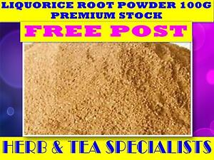 LIQUORICE-ROOT-POWDER-100g-TEA-100-FRESH-LICORICE-Glycyrrhiza-glabra-FREE-POST