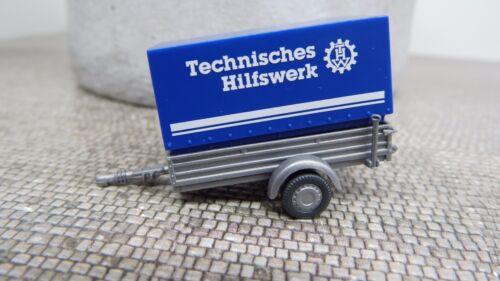 Wiking 1:87 H0 005604 THW Pkw Anhänger Technisches Hilfswerk  Neu OVP