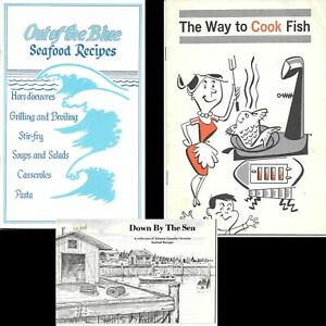 Seafood Recipe Booklets Lot of 3