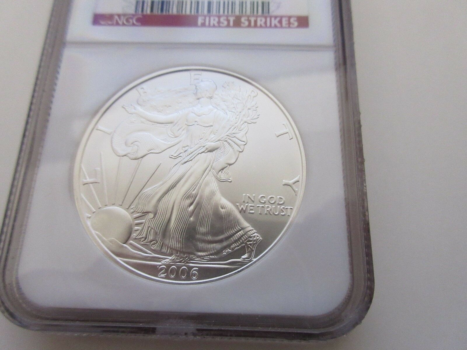 2006 , Silver Eagle , NGC , MS 69 , First Strikes