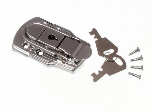 NEW LOCKING CASE CLASP TOGGLE FASTENING TRUNK CATCH /& 2 KEYS 72MM 45MM CP 20X