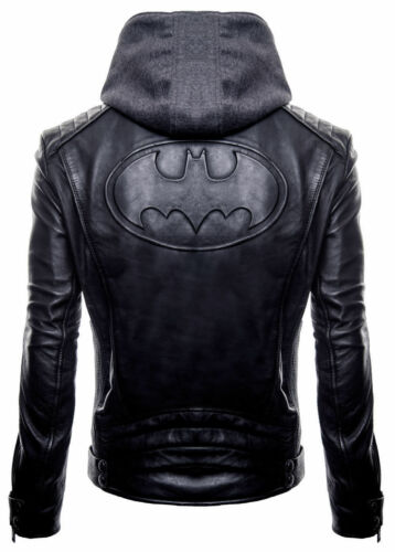 Outlaw The Knight cuero para hombres League chaqueta capucha Biker Gotham Dark Justice de con 5UwXxnqtqS