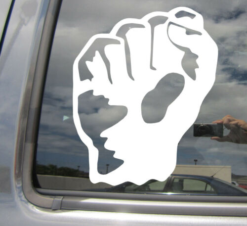 Clenched Raised Fist Salute Car Laptop Bumper Window Vinyl Decal Sticker 10295