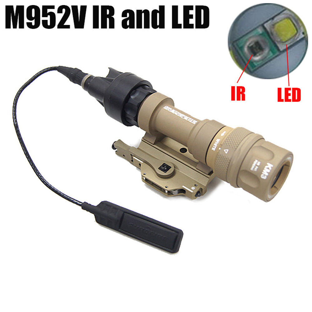 New  IR Version M952V-IR LED WeaponLight Tactical Light White Light & IR Output  hottest new styles