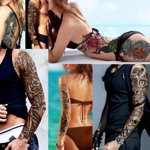Temporary Tattoo Sleeves Full Arm Sleeve Waterproof Fancy Dress Body Art Ebay