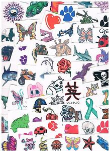 Image Is Loading  X Assorted Kids Temporary Tattoos Bulk Party