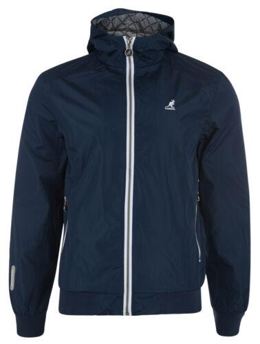 Kangol New Mens Hooded Track Zip Jacket Batnum Navy Red Grey Blue S M L XL