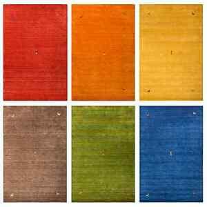 Morgenland-Gabbeh-SAHARA-Teppich-Einfarbig-Tiermotive-Handgearbeitet-6-Farben