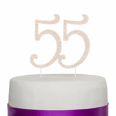 Wondrous 55 Cake Topper For 55Th Birthday Party Rhinestone Number Personalised Birthday Cards Paralily Jamesorg