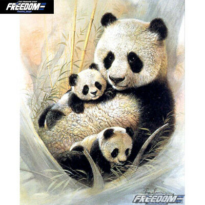 NEW Full Square Drill 5D DIY Diamond Painting Panda Family Animal Gift ONE