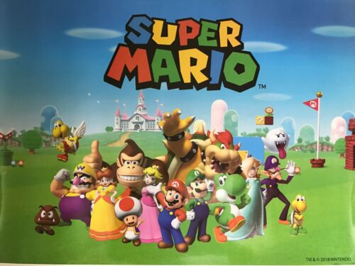Animated Cartoon Movie POSTER NEW. Super Mario 19.5/'/' x 14.5/'/'