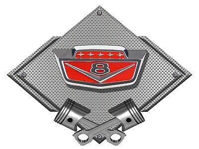 2015-19 Ford Mustang 5.0 Emblem Badge Metal Magnet 5 X 1.4 Black Chrome look