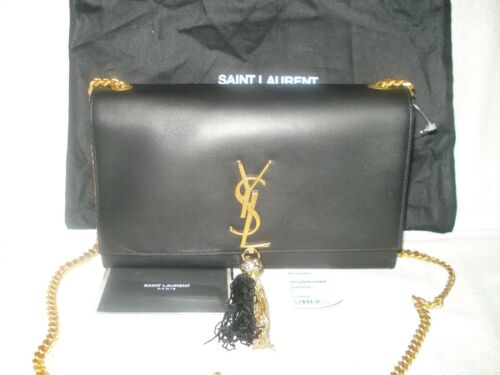 New Chain Yves Laurent grande Bolso Women Monogram Tassel Auth 190617070036 Saint Kate wpg1wq
