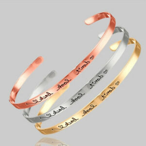 Details About Simple Engraved Don T Look Back Inspirational Jewelry Bracelets Bangles