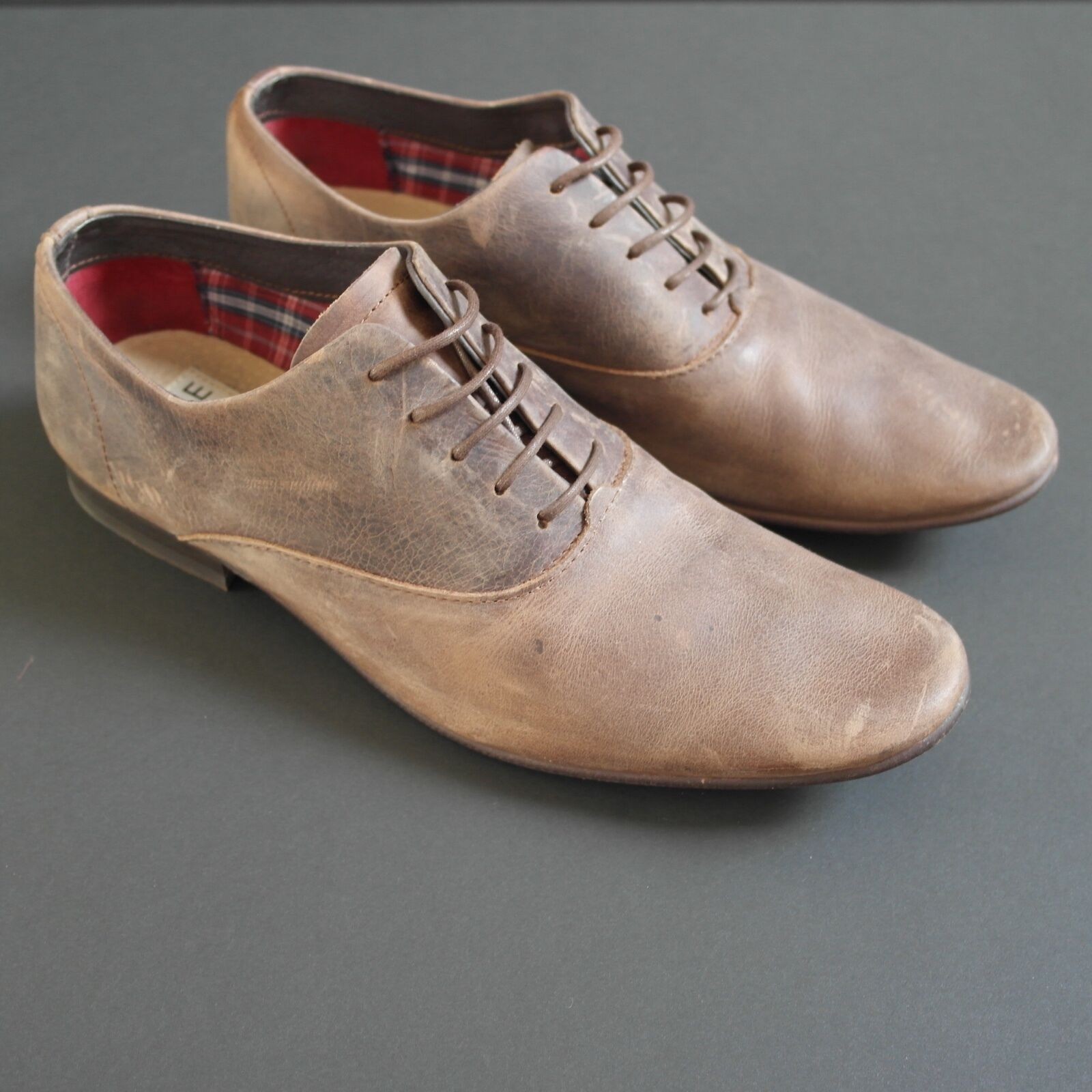 SOLE London Brushed Brown Leather Lace Up Office Mens shoes