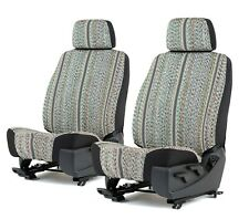 Grey Saddle Blanket Bucket Seat Covers For A Pair Of Low Back Bucket Seats