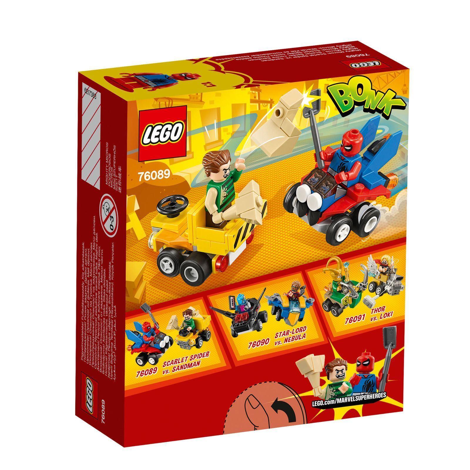 LEGO Marvel 76089    Super Heroes Mighty Micros  Scarlet Spider Vs. Sandman 89 Pcs 762477