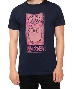 Nintendo-KIRBY-Dreaming-Of-Food-Hamburger-KANJI-T-Shirt-Licensed-amp-Official