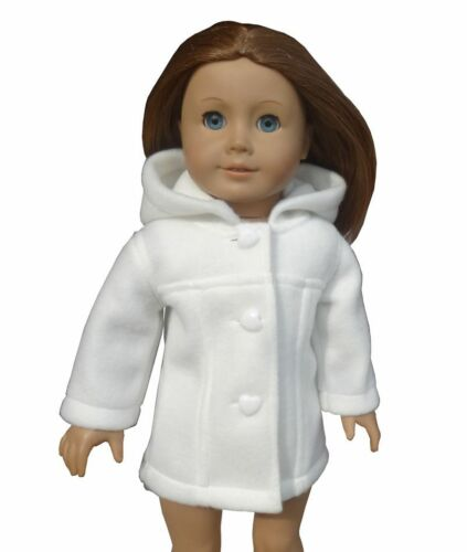 "Handmade clothes leisure white coat.Suitable for 18 /""American girl dolls clothes"