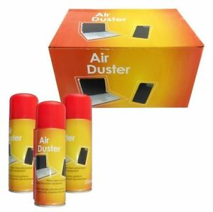 2 x 200ml compressed air duster cleaner can canned laptop keyboard mouse phones ebay. Black Bedroom Furniture Sets. Home Design Ideas