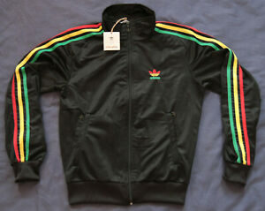 Details about NEW ADIDAS Rasta Track Jacket Reagge Jamaica Women Top Tracksuit 42 14 XL