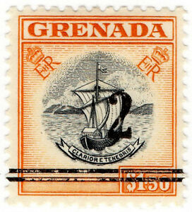 I-B-Grenada-Revenue-Duty-Stamp-2-on-1-50-OP