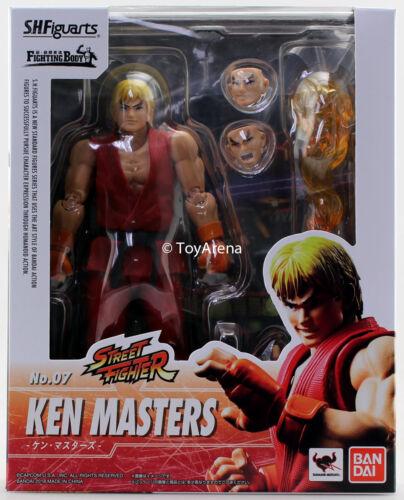 S.H 5 Figuarts Street Fighter V Ken Action Figure Bandai USA Seller IN STOCK