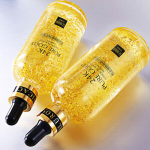 24K-Gold-Essence-Serum-Skin-Care-Wrinkles-Anti-Aging-Liquid-Face-Cream-New