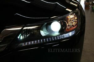 xenon white led light strip bulbs for 2013 2014 honda accord coupe sedan sport ebay. Black Bedroom Furniture Sets. Home Design Ideas