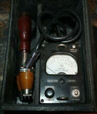 Vintage Weston Moisture Meter Model 8009 With Case Amp Hammmer