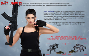 Laser-Tag-Commercial-New-Business-Pkg-10-Laser-Guns-10-Smart-Headbands-Equipment