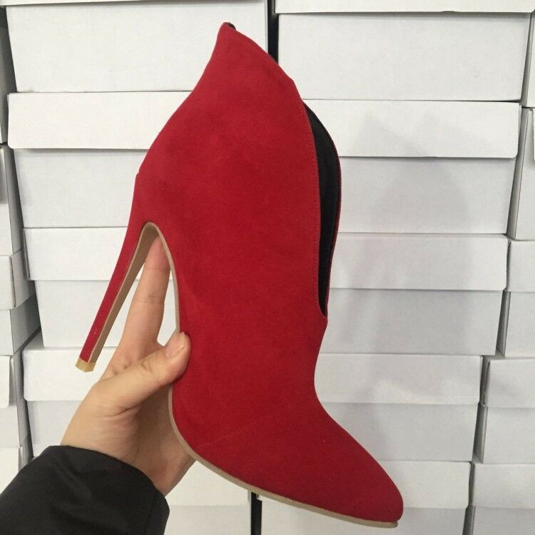 Sexy Women Faux Faux Faux Suede Pointy Toe Stilettos High Heels Slip On Party Ankle shoes 1c4b2d