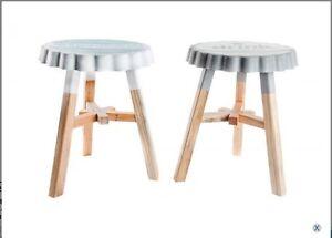 Sgabello pouf legno sedile tappo ebay