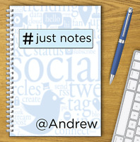 A5 & A4 PERSONALISED NOTEBOOK, NOTE BOOKS, NOTE PAD, 50 LINED OR BLANK /22