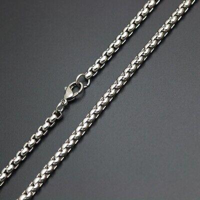 Collier de cou 60 cm homme//femme plaqué argent Chaîne mailles carrées 2mm