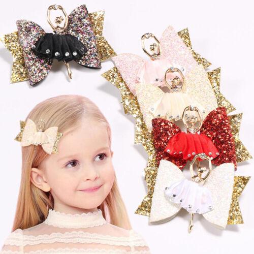 Hair Clip for Ballerina Glitter Bow Sparkly Women Girls Hairpin Hair Accessories