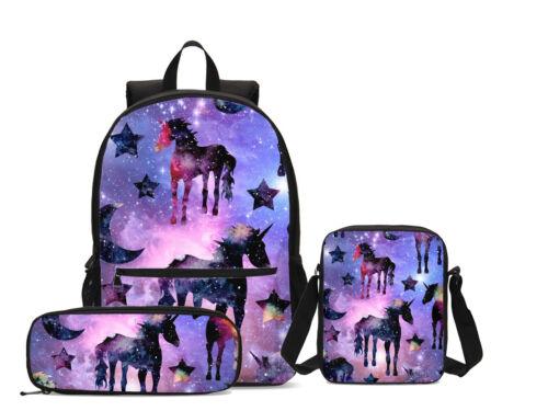 Dream Unicorn Girls Kids Backpack Cross Body Bag Lunch Bag Pen Bag Schoolbag Lot
