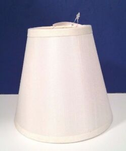 small cream fabric lamp shade chandelier sconce clip on. Black Bedroom Furniture Sets. Home Design Ideas